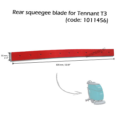 Rear squeegee blade for Tennant T3 (code: 1011456) FREE WORLDWIDE SHIPPING!