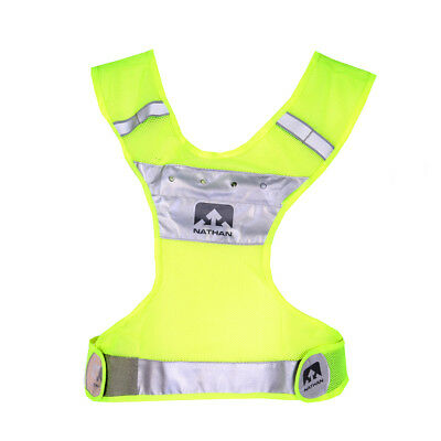 Nathan LightStreak LED Reflective Vest Safety Yellow Reflektierende Laufweste