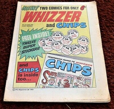 WHIZZER AND CHIPS #1 18th October 1969 first IPC 50th Birthday Present