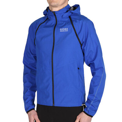Gore Running Essential Windstopper Zip Off Jacket Brilliant Blue Laufjacke Blau
