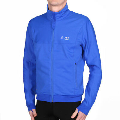 Gore Running Essential Windstopper Jacket Brilliant Blue Laufjacke Blau
