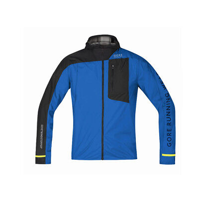 Gore Running Fusion Windstopper Active Shell Jacket Brilliant Blue Black Blau