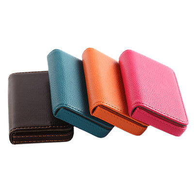 New Pocket PU Leather Business ID Credit Card Holder Case Wallet Cool EF CYN