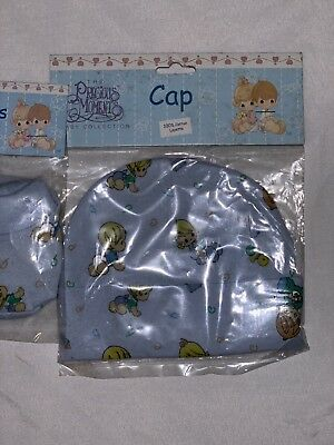 The Precious Moments Baby Gift Set 1 pair of booties and cap size 0/3 months