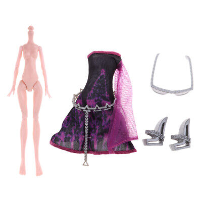 Stylish Nude  Doll Body & Party Clothing For Monster High Dolls