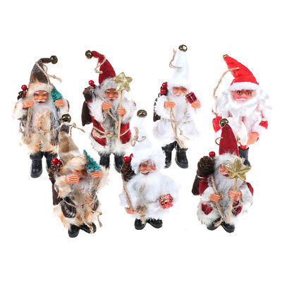Plush Santa Claus Christmas Decor New Year Ornaments Xmas Tree Decoration GiftCL