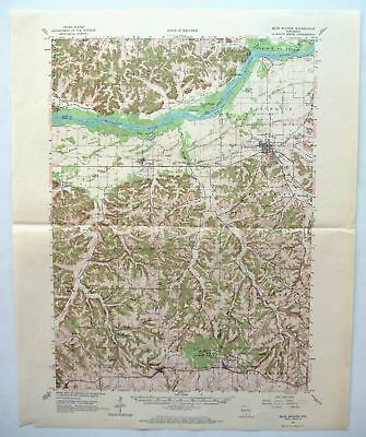 Blue Mounds Wisconsin Vintage USGS Topo Map 1962 Mount Horeb Topographical