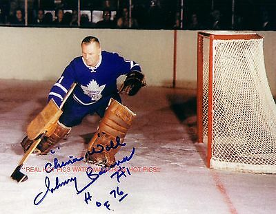 ** JOHNNY BOWER ** Toronto Maple Leafs Autographed 8x10 Photo (RP)