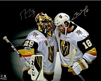 Marc-Andre Fleury & James Neal Vegas Golden Knights Autographed 8x10 Photo (RP)