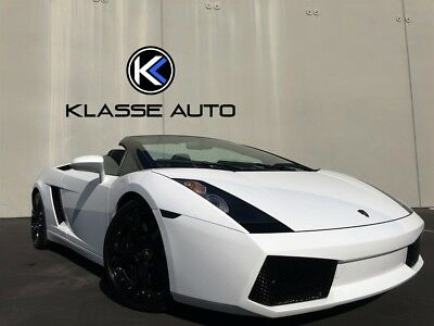 2008 Gallardo Spyder 2008 Lamborghini Gallardo Spyder Rare White Color Low Miles Just serviced WOW