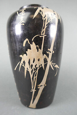 Fine Old Chinese Signed Inscribed Porcelain Vase Scholar Work Of Art