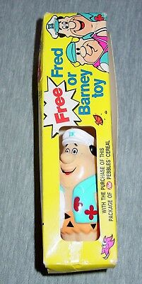 Vintage Flintstones Fred Or Barney Toy From A Box Of Post Pebbles Cereal Sealed