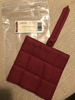 Longaberger Basket Handle Gripper in Paprika Fabric NEW Red Christmas