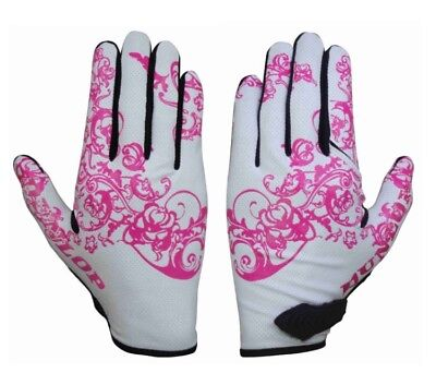 New Dunlop Women's Twin Flip Golf Glove Technology White/pink.