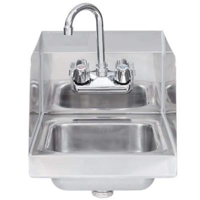 """Stainless Steel Hand Sink with Side Splash - NSF - Commercial Equipment 16"""" X 16"""