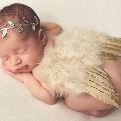 Lovely Child Kids Gold Fairy Baby Beautiful Angel Wings Party Supplies Hot SellF