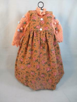 Artist Lynne & Michael Roche Dollmakers Tagged Doll Dress Knitted Sweater & Hat