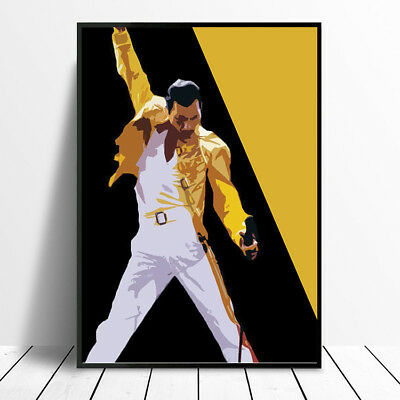 Freddie Mercury Queen Art Poster Print Photo Picture A4 A3