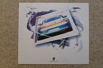 2002 Porsche 911 Carrera 4S Design Showroom Advertising Poster RARE Awesome L@@K