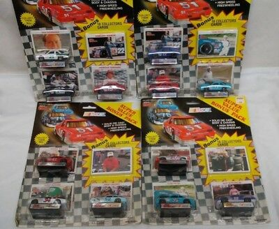 NASCAR Racing Champions Value Pack of 3 Cars 10 Bonus Cards Lot of 4