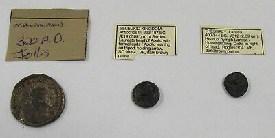 Collector Lot of 3 Ancient Roman Coins - Good Mix of All Different Types