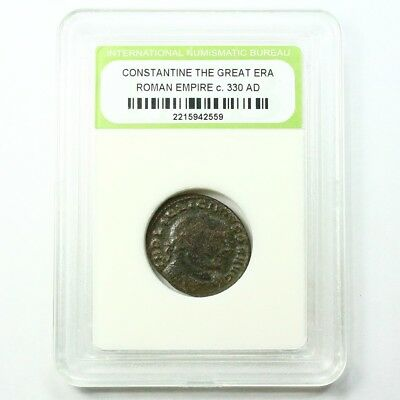 Slabbed Ancient Roman Constantine the Great Coin c330 AD Exact Coin Shown st1643