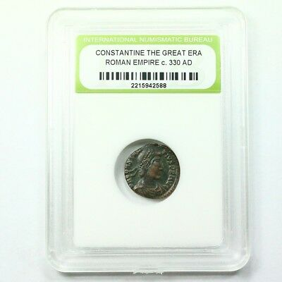 Slabbed Ancient Roman Constantine the Great Coin c330 AD Exact Coin Shown st1602