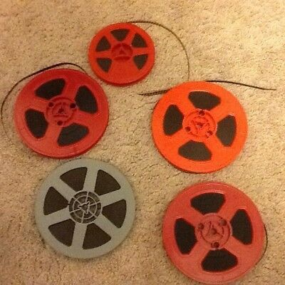 5 Vintage Adult Stag Color 8Mm Movies