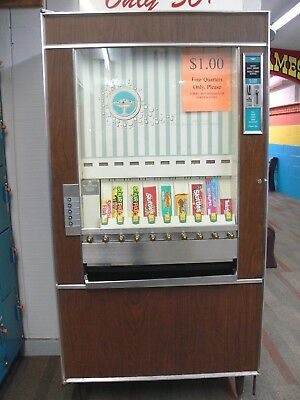 GOOD WORKING Antique/Vintage  NATIONAL VENDORS Model CM-72 Candy VENDING MACHINE