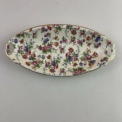 Cheery Chintz ER Dorset Germany Candy Dish