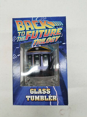 Back to the Future Trilogy Glass Tumbler Marty Doc Delorean New 1st Movie