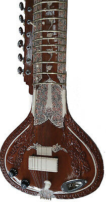 Ultra Reinforced Neck Indian Acoustic Electric Sitar To Withstand String Tension