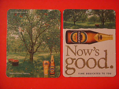 Beer Coaster <> BULMERS Apple Cider ~ Now's Good ~ Tipperary, IRELAND ~ Orchard