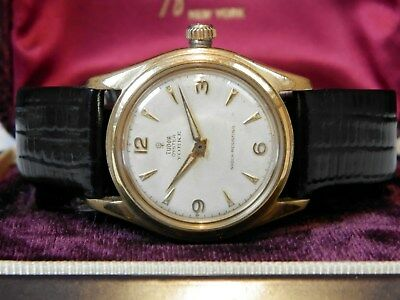 Immaculate Gents Vintage Rolex Tudor Oyster--Explorer Dial--Serviced--18K Crown!