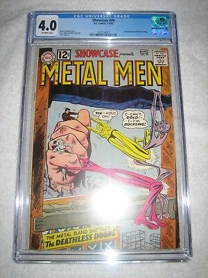 SHOWCASE # 39 CGC 4.0 OW - 3rd APPEARANCE OF THE METAL MEN!!! KEY SILVER AGE!!!