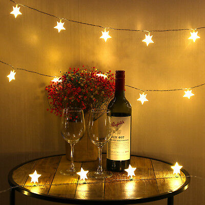 40 LED Star String Christmas Lights Fairy Lights for Christmas Party Decoration