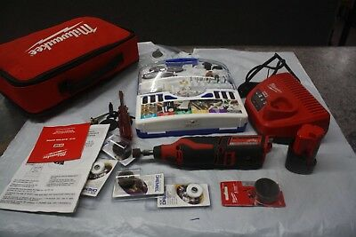Milwaukee 2460-20 M12 Cordless Rotary Tool W/Battery Charger Kit AN ACESSORY