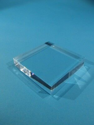Acrylic Display Base for Minerals etc. 5 x 5 x 1 cm. Eight (8) Bases.