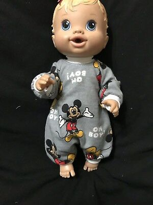 Dolls clothes made to fit 32cm Baby Alive Dolls (size Small).  All In One Suit