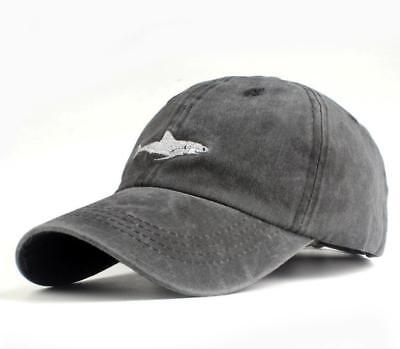 Men's hat 100% Cotton Letter embroidery shark Simple style Baseball cap