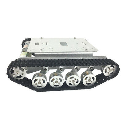 Obstacle Avoidance Metal Rc Robot Tank Car Chassis Shock Absorption Car