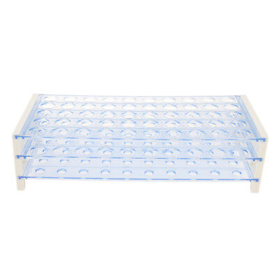 3-Tier 50 Holes Plastic Detachable Centrifuge Test Tube Rack Φ16mm