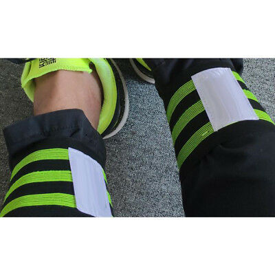 2PCS Cycling Biking Running Bike Bind Elastic Pants Band Leg Strap Stripes