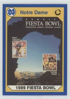 1990 Collegiate Collection University of Notre Dame #74 1989 Fiesta Bowl Card