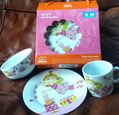 Sisi & Tommy 3 Piece Kids Dining Set Dishwasher/Microwave Safe RRP$45 Great Gift