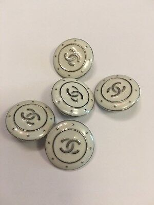 Buttons Chanel 5 Pieces Set  25 mm
