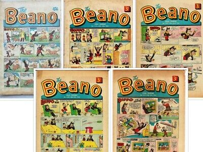 BEANO  # 1028,1197,1227,1230,1231 1962/1965/1966 5  issues Bundle the comic
