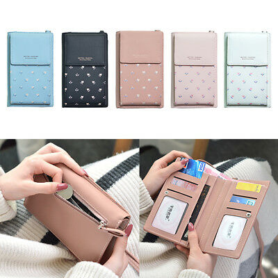 Women Printing Wallet Bag Leather Coin Phone Purse Billfold Mini Cross-body Bag
