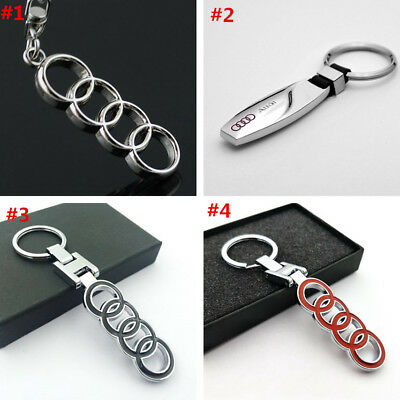 Metal alloy Key Chain Key Ring car logo Keychain pendant Key Holder Fit For Audi