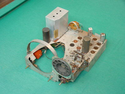 """Parts Chassis for 1940's Emerson Models 600 and 639 7"""" TV's"""
